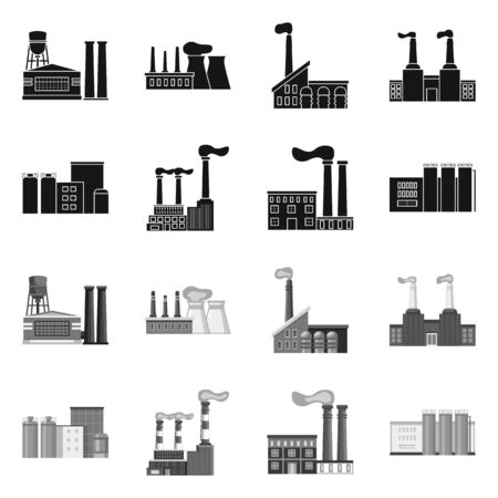 Isolated object of industry and plant icon. Set of industry and technology stock symbol for web. Фото со стока - 131188102