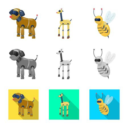 Vector design of toy and science . Collection of toy and toy stock vector illustration. Ilustração