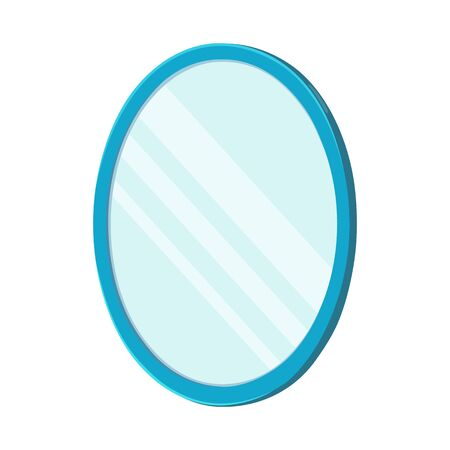 Vector design of mirror and circle icon. Web element of mirror and metal stock symbol for web.