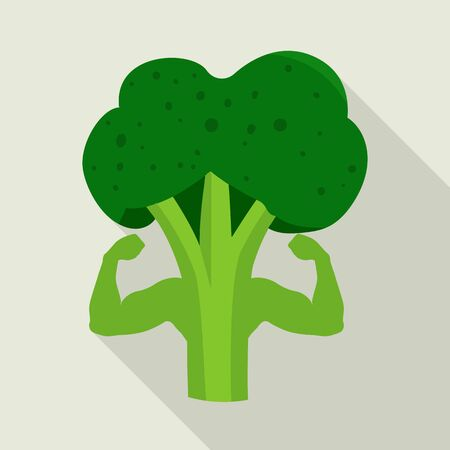 Isolated object of broccoli and vitamin symbol. Collection of broccoli and ingredient vector icon for stock.