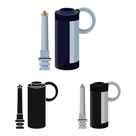 Isolated object of e-cig and device symbol. Web element of e-cig and smoking vector icon for stock.