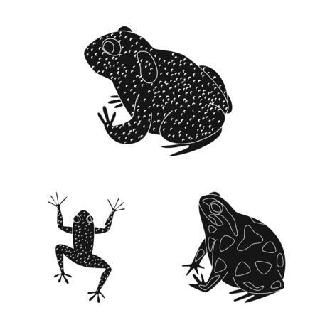 Vector design of fauna and reptile symbol. Collection of fauna and anuran stock symbol for web.