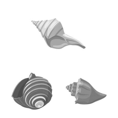 Isolated object of aquarium and aquatic sign. Collection of aquarium and decoration stock symbol for web. Ilustração