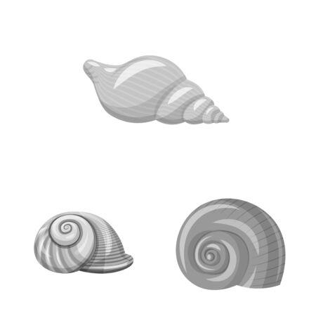 Isolated object of aquarium and aquatic symbol. Set of aquarium and decoration stock symbol for web.