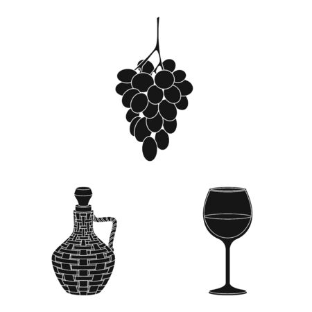 Vector design of nature and product icon. Set of nature and winery vector icon for stock. Stock Illustratie
