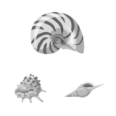 Isolated object of aquarium and aquatic symbol. Collection of aquarium and decoration stock symbol for web.