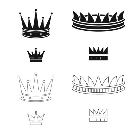 Vector illustration of medieval and nobility icon. Collection of medieval and monarchy stock vector illustration.