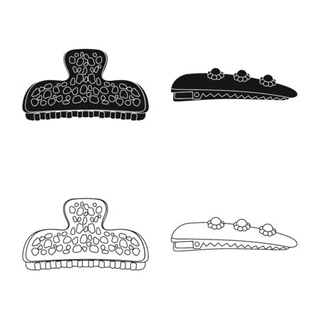 Isolated object of beauty and fashion symbol. Collection of beauty and female vector icon for stock.