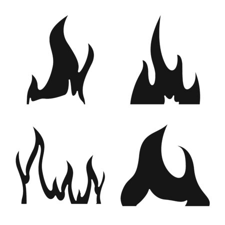 Vector illustration of blazing and wildfire icon. Set of blazing and red stock vector illustration.
