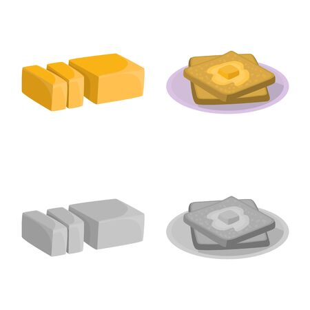 Vector design of creamy and product icon. Set of creamy and farm vector icon for stock.
