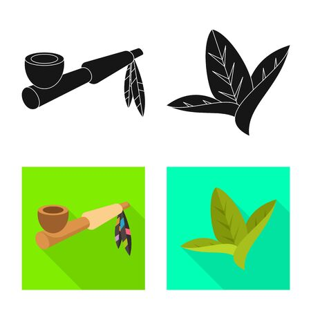 Isolated object of accessories and harm symbol. Set of accessories and euphoria vector icon for stock. Ilustrace