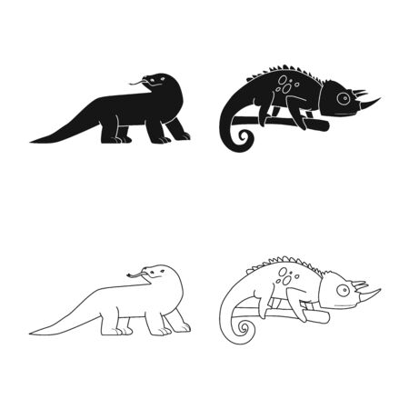 Isolated object of tail and fauna symbol. Collection of tail and environment stock vector illustration. 일러스트