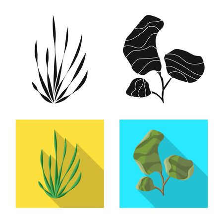 Isolated object of biodiversity and nature logo. Set of biodiversity and wildlife stock symbol for web.