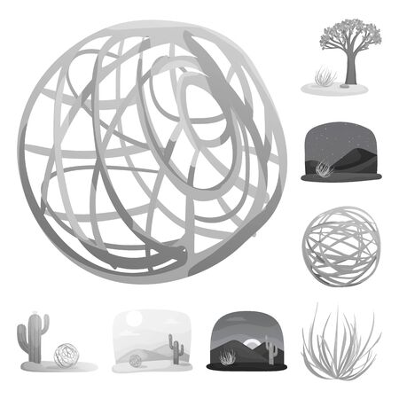 Vector illustration of countryside and pasture icon. Collection of countryside and nature stock vector illustration. Ilustração