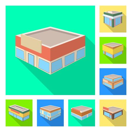 Isolated object of and urban icon. Collection of and house vector icon for stock.