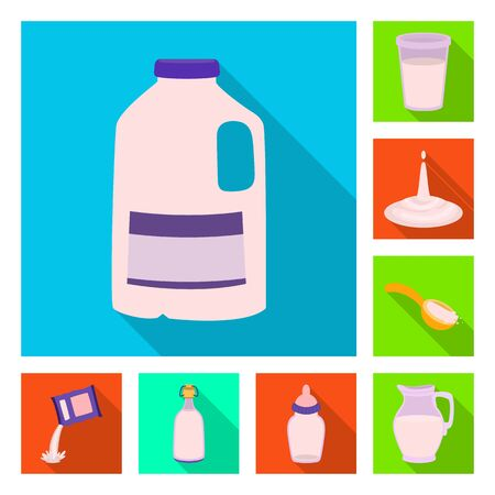 Isolated object of fresh and diet symbol. Set of fresh and healthy stock symbol for web.