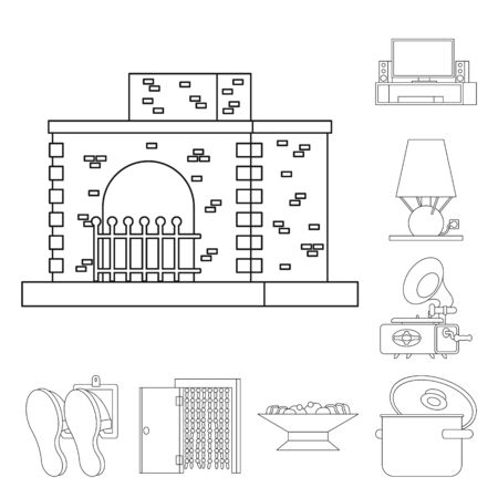 Vector illustration of accessories and product icon. Set of accessories and style stock vector illustration.