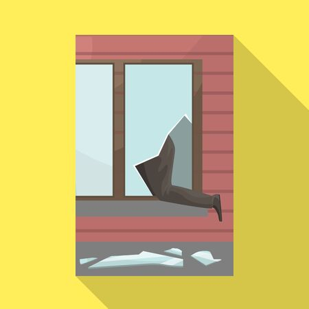 Vector illustration of broken and window logo. Collection of broken and security stock symbol for web.
