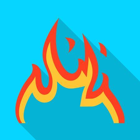 Vector illustration of orange and hot icon. Collection of orange and yellow stock vector illustration. Illusztráció