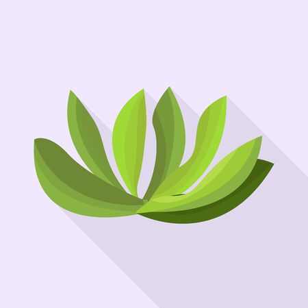 Vector illustration of bush and decorative sign. Set of bush and nature stock symbol for web.