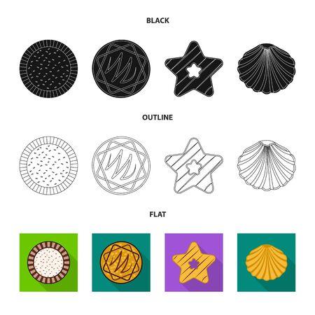 Vector illustration of biscuit and bake logo. Collection of biscuit and chocolate stock vector illustration.