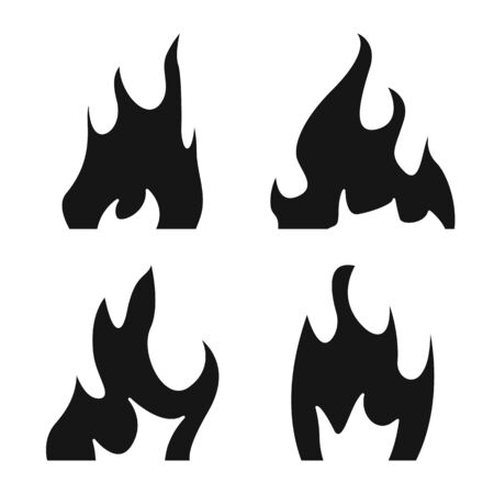 Vector illustration of blazing and wildfire symbol. Set of blazing and red stock symbol for web.