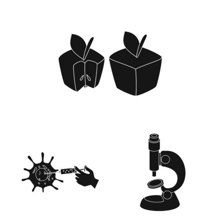 Vector illustration of quality and laboratory icon. Set of quality and genetically vector icon for stock.