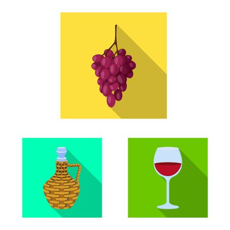 Vector design of farm and vineyard symbol. Set of farm and product vector icon for stock. Stock Illustratie