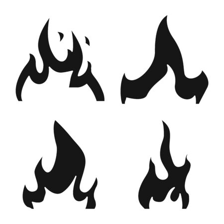 Vector design of blazing and wildfire. Set of blazing and red stock symbol for web. Illusztráció