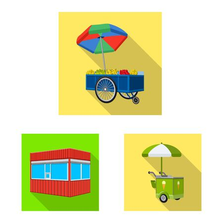 Vector design of marketing and tent sign. Collection of marketing and outdoor stock vector illustration.