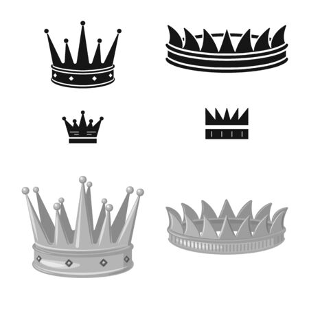 Isolated object of medieval and nobility sign. Set of medieval and monarchy vector icon for stock.