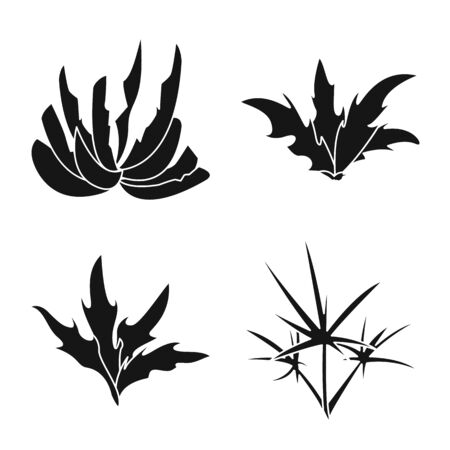 Vector design of nature and environment symbol. Collection of nature and grass vector icon for stock.