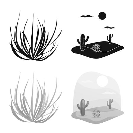Isolated object of landscape and nature symbol. Set of landscape and environment vector icon for stock.