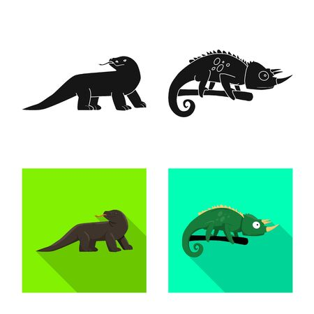 Isolated object of tail and fauna icon. Set of tail and environment vector icon for stock.