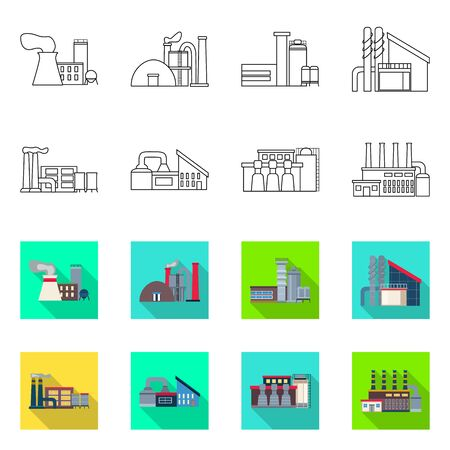 Vector design of industry and plant icon. Set of industry and technology stock symbol for web. Фото со стока - 131119991