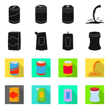 Isolated object of drink and beverage icon. Collection of drink and liquid stock symbol for web.