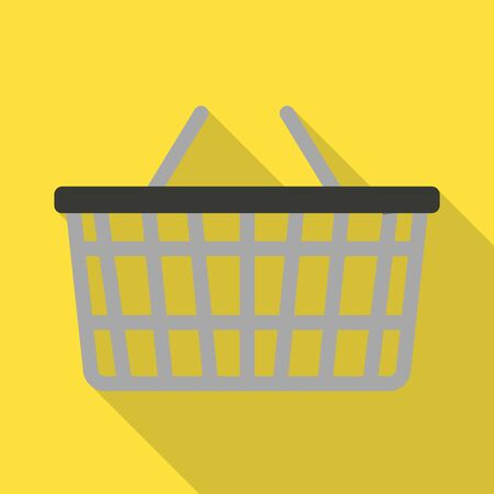 Isolated object of basket and store. Web element of basket and plastic stock symbol for web. Illustration