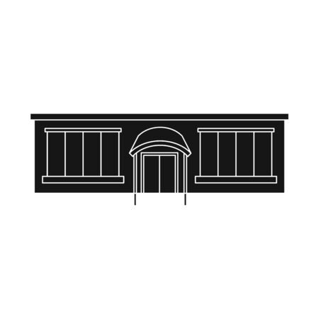 Isolated object of shop and exterior icon. Set of shop and town stock symbol for web. Ilustração
