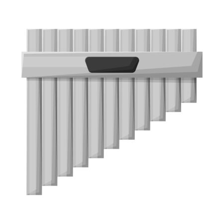 Vector illustration of flute and pan icon. Web element of flute and panpipe vector icon for stock.