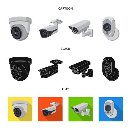 Isolated object of cctv and camera icon. Set of cctv and system stock vector illustration.