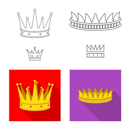 Vector design of medieval and nobility icon. Set of medieval and monarchy vector icon for stock. Stock Illustratie