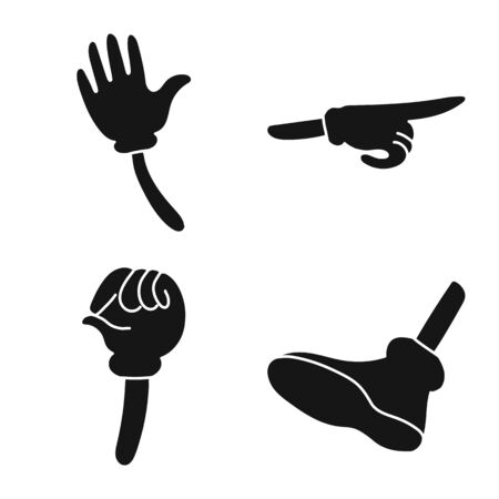 Isolated object of gestures and information sign. Collection of gestures and animation vector icon for stock. 일러스트