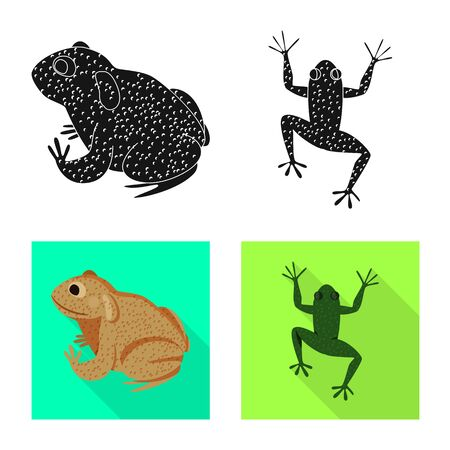Vector illustration of wildlife and bog icon. Collection of wildlife and reptile stock vector illustration.