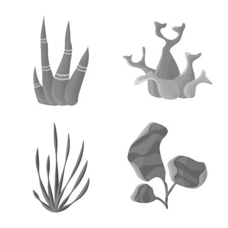 Vector design of botanical and flora symbol. Collection of botanical and nature vector icon for stock.