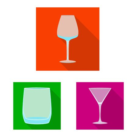 Isolated object of drinks and restaurant symbol. Set of drinks and celebration stock symbol for web.