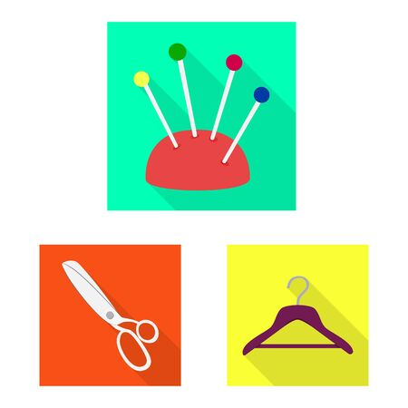 Isolated object of craft and handcraft icon. Set of craft and industry stock symbol for web.