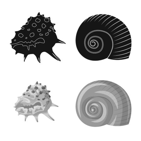 Isolated object of animal and decoration symbol. Set of animal and ocean vector icon for stock.