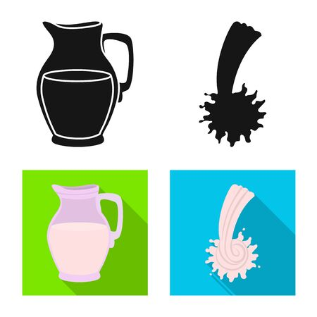 Isolated object of farm and healthy icon. Collection of farm and organic vector icon for stock. Ilustração
