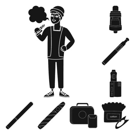 Isolated object of e-cig and trendy icon. Collection of e-cig and electronic stock symbol for web. Stock fotó - 131219141