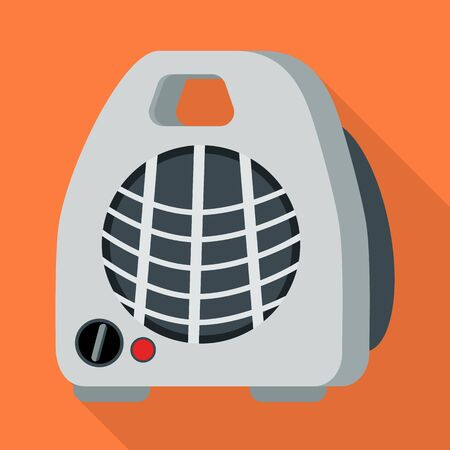 Vector illustration of heater and portable symbol. Web element of heater and room vector icon for stock.